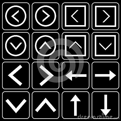 Reeks pictogrammen (citaten, pijlen)