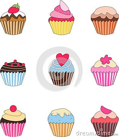 Reeks van cupcake