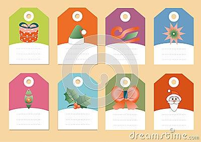 Reeks van de vector van Kerstmispictogrammen
