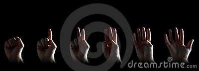 Reeks van het gesturing van handen