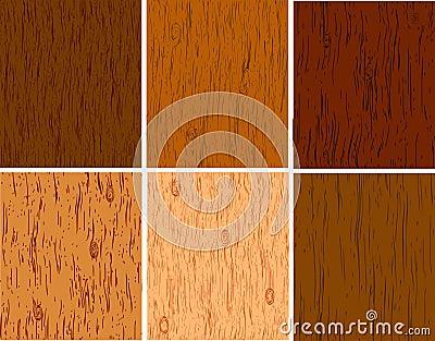 Reeks van houten structuren