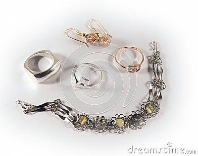 Reeks van juwelen