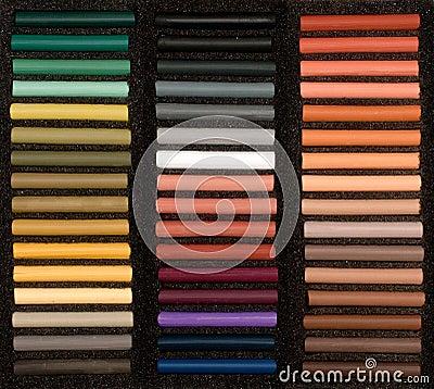 Reeks van zachte pastelkleur