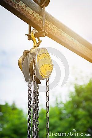 Free Reel Hanging On Metal Pole Using In Garage Royalty Free Stock Photos - 104232078