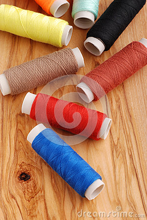 Free Reels Of Cotton Royalty Free Stock Images - 25242879