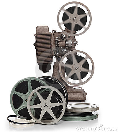 Reels and projector