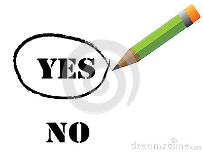 Reen pencil choosing yes