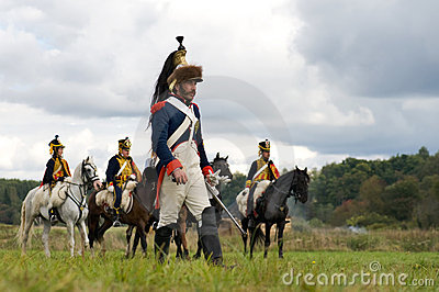 Reenactment of the Borodino battle close up Editorial Image