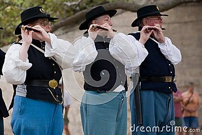 Reenactment da guerra civil Imagem de Stock Editorial