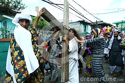 Reenactment of the death of Jesus Christ Editorial Photography