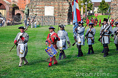 Reenactment of siege of Turin, september 1706. Editorial Stock Image