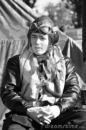 Second world war II german pilot on campsite