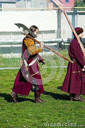 Free Reenactors In 18th Century Russian Army Uniform Stock Photo - 65007960