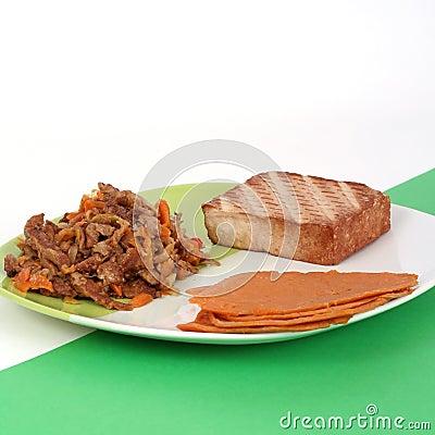 Refeição do vegetariano, estilo de vida saudável