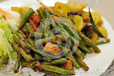 Refeição ajustada do vegetariano saudável