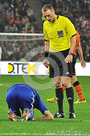 Referee Anatoliy Zhabchenko Editorial Photography