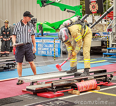 Free Referee For Firefighter World Combat Challenge XXIV Royalty Free Stock Images - 69959959