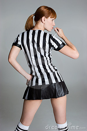 Free Referee Girl Royalty Free Stock Photography - 6294737
