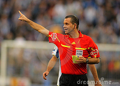 Referee Muñiz Fernnadez Editorial Stock Image