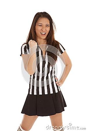 Referee woman punch