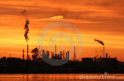 Refinery At Dawn Stock Photos - Image: 6380913