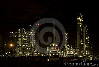Refinery at night 1