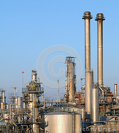 Refinery pipeline in factory