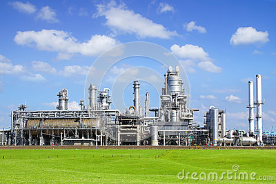 Refinery plant at Europort harbor, Rotterdam