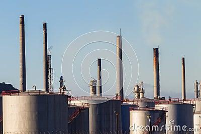 Refinery  Storage Tanks Editorial Image