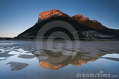 Reflect in the beach of Oriñon