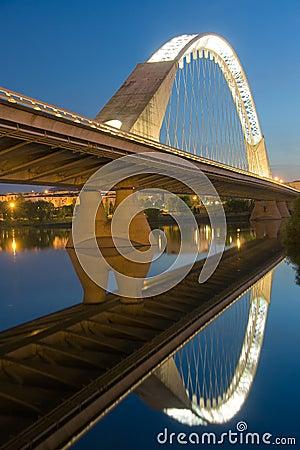 Reflect of the bridge of Lusitania Editorial Image