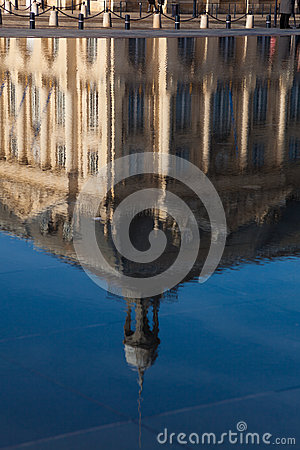 Reflect in the square of the bourse, Bordeaux