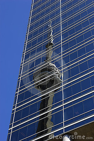 Reflected CN Tower