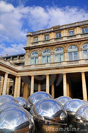 Reflecting Balls of Palais Royale Editorial Stock Photo