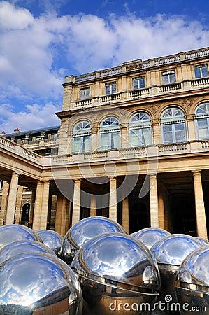 Reflecting Balls of Palais Royale Editorial Stock Photo