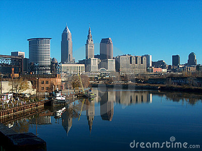 Reflecting Cleveland Skyline