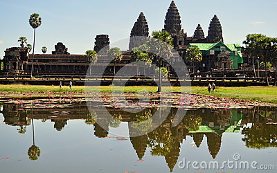 Reflection of Angkor Wat Temple, Cambodia