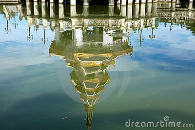 Reflection of Beautiful pagoda