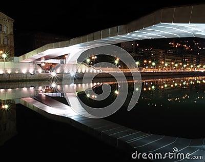 Reflection of Deusto universitys bridge