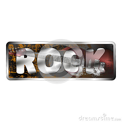 Free Reflection Electric Guitar In Rock Inscriptions Royalty Free Stock Photography - 70177507