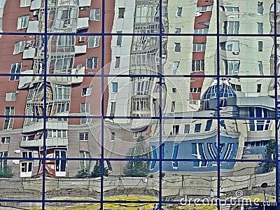 Reflection in a facade