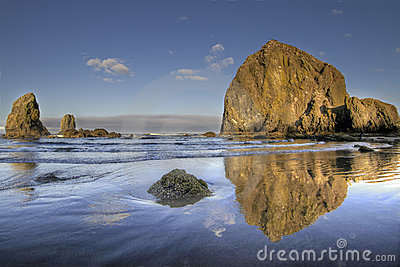 Reflection of Haystack Rock at Cannon Beach 3