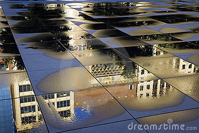 Reflection of historic building in Chicago