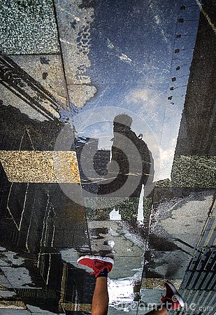 Free Reflection In The Water After The Rain Royalty Free Stock Images - 125830009