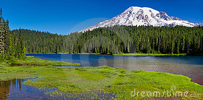 Reflection Lake, Mount Rainier Panorama