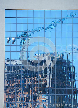 Free Reflection Of The Modern Apartment Building Under Construction Stock Photos - 94981243