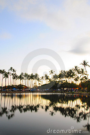 Reflection over Ala Moana Beach Park