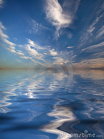 Reflection of the sky in water