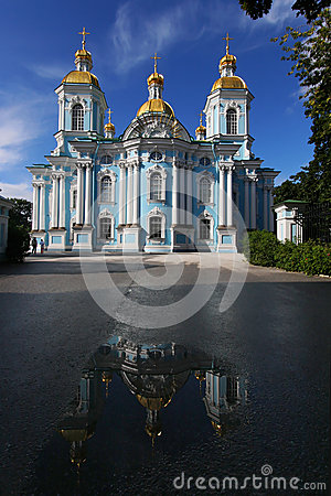 Reflection of St. Nicholas Naval Cathedral