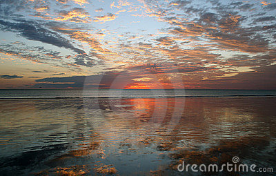 Reflection Sunset, Cable Beach, Broome,